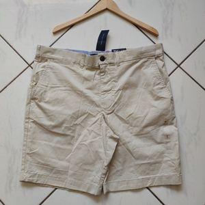 Tommy Hilfiger 💜 NWT Khaki Flat Chino Shorts Golf